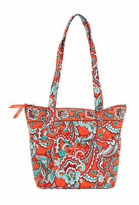 Bella Taylor Printed Design Handbag with Double Strap Pattern Bali Bright Brand Bella Taylor