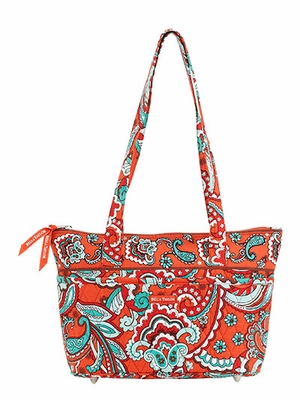 Bella Taylor Printed Handbag with Double Strap and Quilted Design Bali Bright Brand Bella Taylor