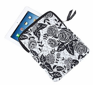 Bella Taylor Printed Tablet Case with Flat Bottom and Zip Closure Rose Pop Brand Bella Taylor