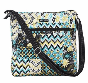 Bella Taylor Quilted Cross Body Bag with Patch Work Design Lemon Julep Brand Bella Taylor
