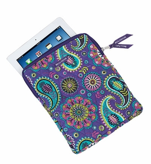 Bella Taylor Quilted Tablet Case with Paisley Print Design Paisley Punch Brand Bella Taylor