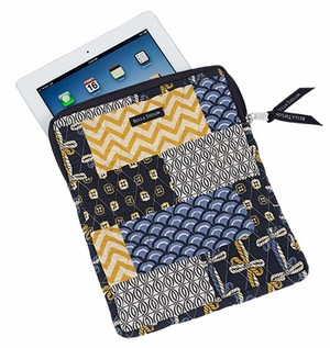 Bella Taylor Quilted Tablet Case with Patch Work Design American Charm Brand Bella Taylor