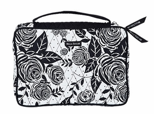 Bella Taylor Rose Print Book Cover with Quilted Pattern Rose Pop Brand Bella Taylor