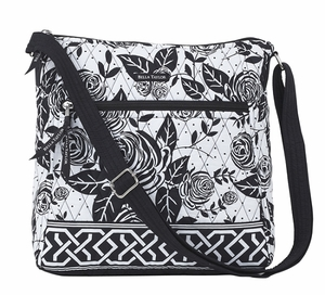 Bella Taylor Rose Print Crossbody Bag with Zipper Pocket Rose Pop Brand Bella Taylor