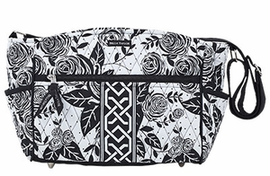 Bella Taylor Rose Print Crossbody Shoulder Bag with Machine Quilt Rose Pop Brand Bella Taylor