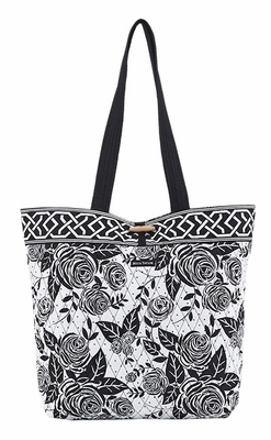 Bella Taylor Rose Print Design Tote Bag with Toggle Closure Rose Pop Brand Bella Taylor
