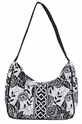 Bella Taylor Rose Printed Handbag with Single Shoulder Strap Rose Pop Brand Bella Taylor