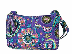 Bella Taylor Shoulder Bag with Adjustable Strap and Paisley Print Paisley Punch Brand Bella Taylor