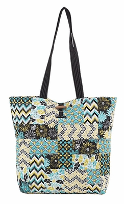 Bella Taylor Tote Bag with Patch Work and Toggle Closure Lemon Julep Brand Bella Taylor