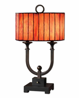 Bellevue Oil Rubbed Bronze Table Lamp with Black Foot Brand Uttermost