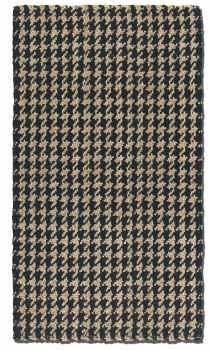 """Bengal Black 16"""" Hand Woven Rug in Black and Natural Jute Brand Uttermost"""