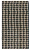 Bengal Black 5' Hand Woven Rug in Black and Natural Jute Brand Uttermost