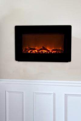 Bergamo Wall Mounted Electric Fireplace, Elegant And Robust Heating Utility by Well Travel Living