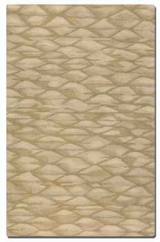 "Berkane 16"" Hues of Golden Beige Wool Rug in Medium Cut Pile Brand Uttermost"