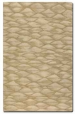 Berkane 5' Hues of Golden Beige Wool Rug in Medium Cut Pile Brand Uttermost