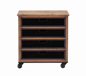 Berlin Beautiful Domestic Basket Cabinet Brand Benzara