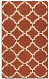 """Bermuda Burnt Sienna 16"""" Woven Wool Rug with Natural Striations Brand Uttermost"""