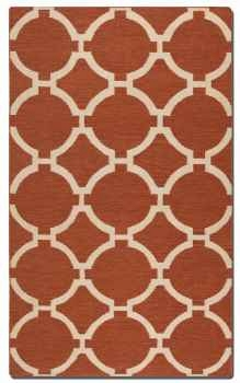 Bermuda Burnt Sienna 5' Woven Wool Rug with Natural Striations Brand Uttermost