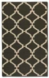 """Bermuda Charcoal 16"""" Woven Wool Rug with Natural Striations Brand Uttermost"""