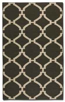 Bermuda Charcoal 8' Woven Wool Rug with Natural Striations Brand Uttermost