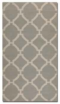 Bermuda Grey 8' Woven Woolen Rug with Natural Striations Brand Uttermost