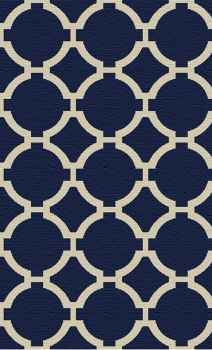 Bermuda Indigo 5' Woven Wool Rug with Natural Striations Brand Uttermost