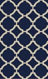 Bermuda Indigo 8' Woven Wool Rug with Natural Striations Brand Uttermost