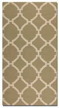 Bermuda Khaki 5' Woven Wool Rug with Natural Striations Brand Uttermost