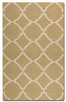 Bermuda Wheat 5' Woven Wool Rug with Natural Striations Brand Uttermost