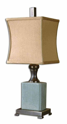 Bernadette Blue Buffet Lamp with Bronze Accents Brand Uttermost