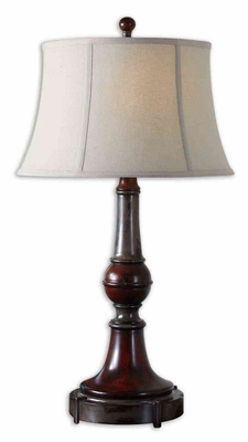Bevin Solid Wood Table Lamp with Intricate Detailing Brand Uttermost