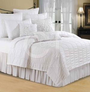 Bianca Twin Size Quilt with 100% Cotton and Cotton Fill Brand C&F