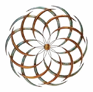 Big Bang Classic Metal Wall Decor Sculpture in Brown and Silver Brand Woodland