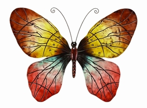 Wall Metal Butterfly For Wall Decor - 64263 by Benzara