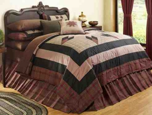 Big Sky Lodge Cabin Quilt Luxury Os Queen  Bedding Ensembles Brand C&F