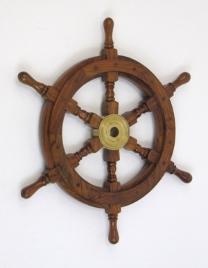 Bilbao Ship Wheel, Awe-inspiring Grand Nautical Decor Brand IOTC