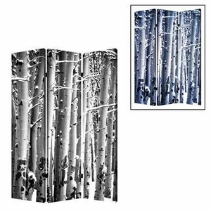 Birch 3 Panel Screen Crafted with Complementary Images on Canvas Brand Screen Gem