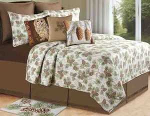 Birchwood Forest Quilt Queen Size Handmade Cotton Quilt Brand C&F