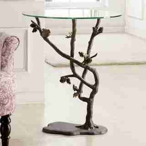 Bird & Pinecone Table A Just Arrived Beautiful Glass Top Garden Table Brand SPI-HOME