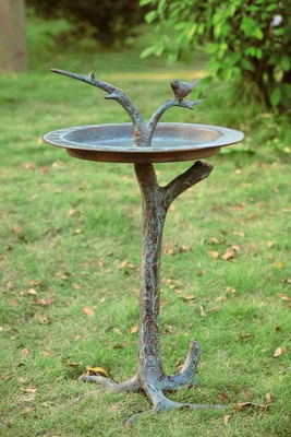 Bird & Twig Sundial/Birdbath Adds Natural Glamour To Any Spot Brand SPI-HOME