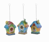 "Birdhouse 3/Assorted 7""H, Modern Attractive & Long-lasting Brand Woodland"