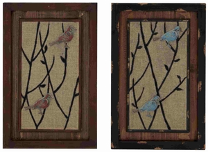 Birdie Assorted Wood Metal Wall Decor Brand Benzara