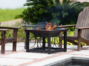 Bitonto Cocktail Table Fire Pit, Ornamental And Valuable Heating Accessory by Well Travel Living