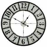 Black and Distressed White Finish Bianca Clock by Cooper Classics