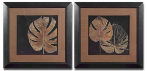 Black Balazo Framed Art in Dark Brown - Set of 2 Brand Uttermost