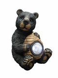 Black Bear with Solar Light Garden Statue by Alpine Corp