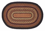 Black Bordered Attractive Ontario Jute Rug Oval by VHC Brands