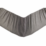 Black Chambray Queen Bed Skirt 60x80x16 - VHC Brands 27273