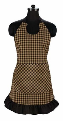 Black Check Apron Full Size Brand VHC