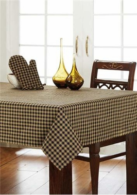 "Black Check Tablecloth  60X80"" Brand VHC"